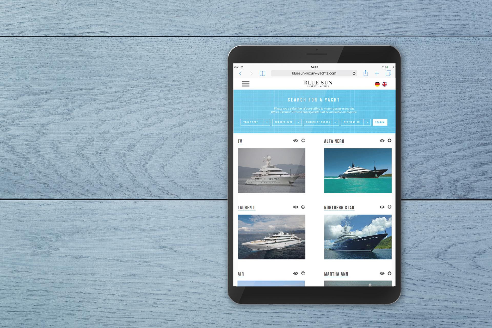 Blue Sun iPad lockup