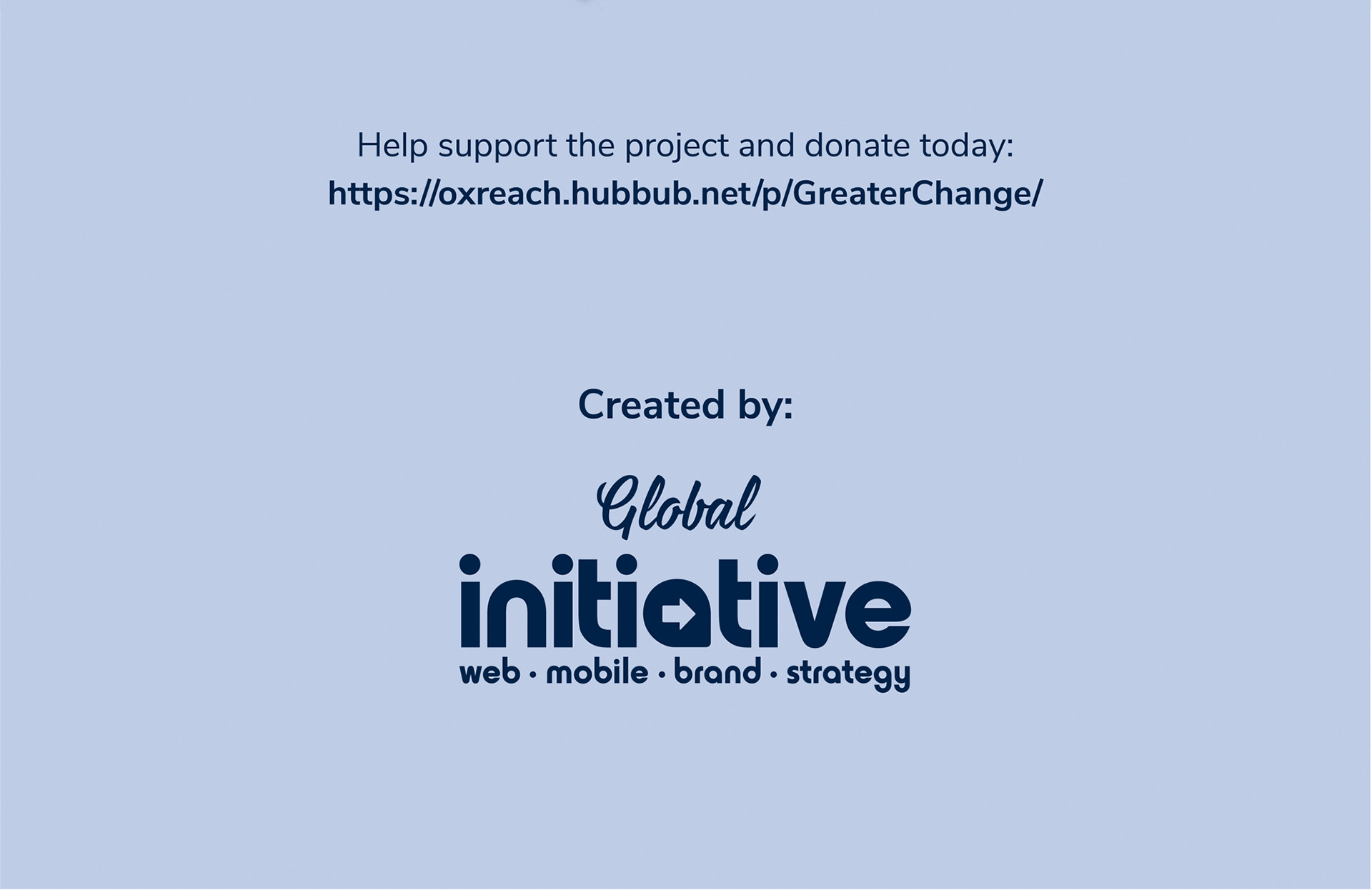 Greater Change project 8