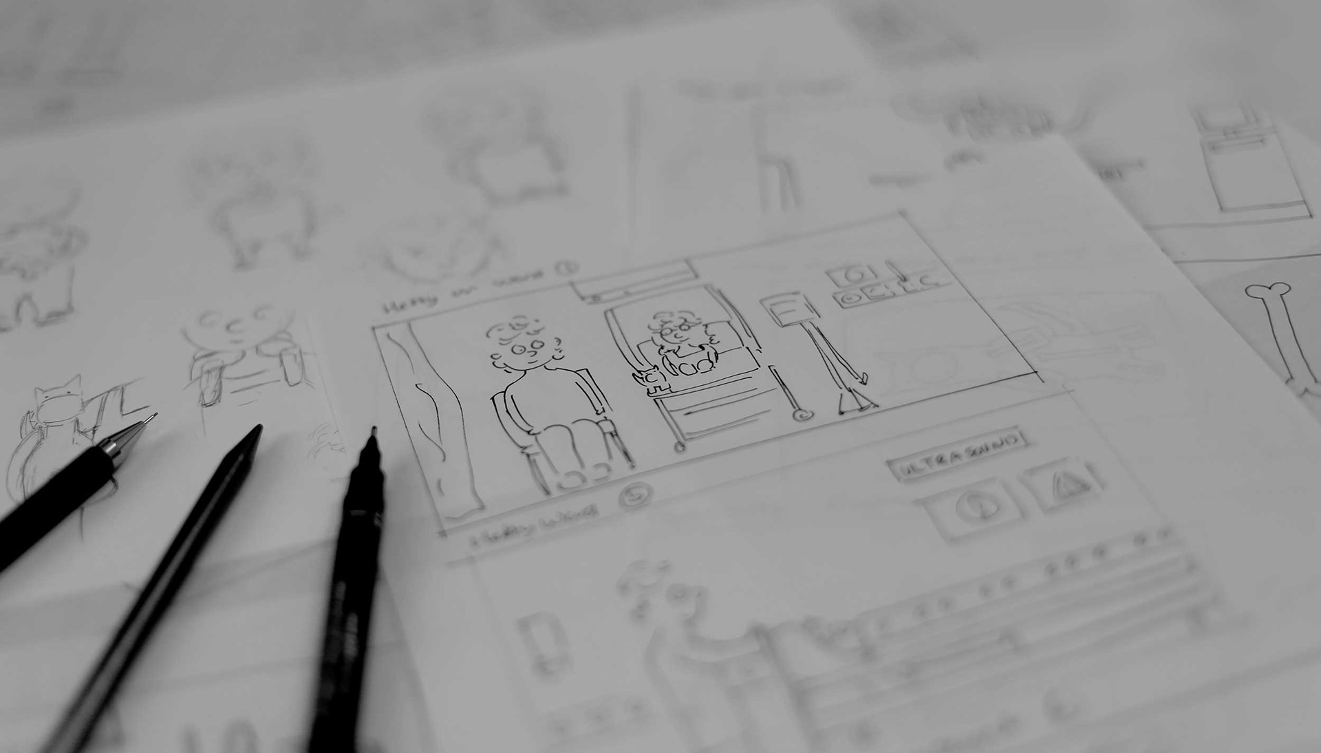 How it all began... concepting the app with pen and paper