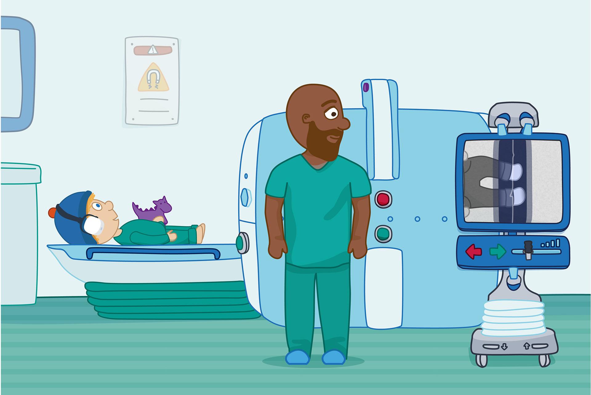 Charlie has an MRI scan