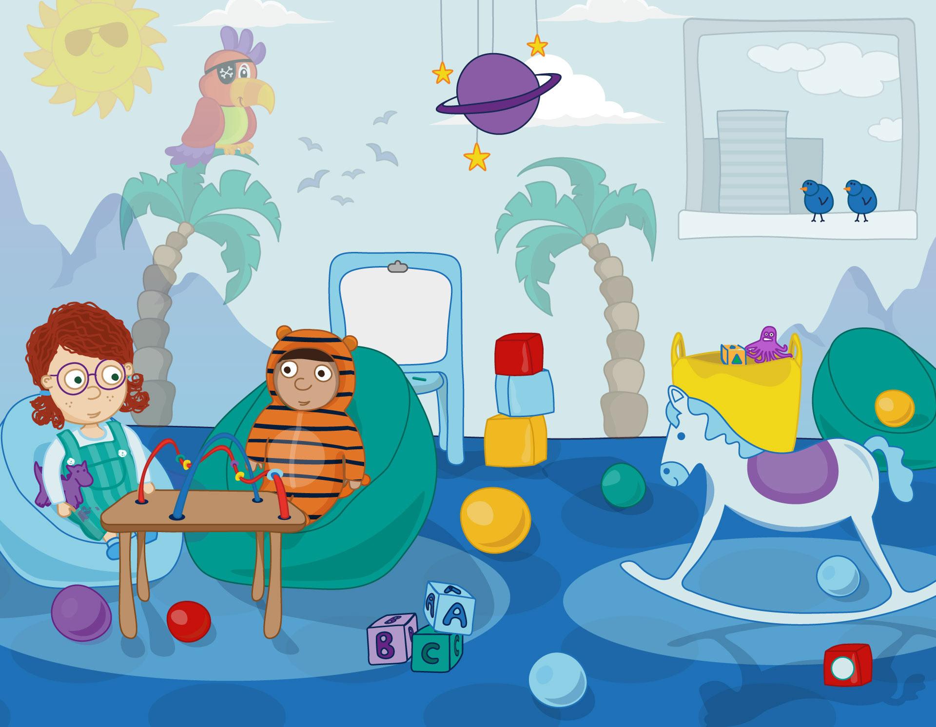 Hetty & Priya in the Interactive Games Room